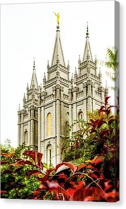 Slc Temple Angle Canvas Print by La Rae  Roberts