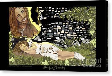 Sleeping Beauty Canvas Print by Lisa  Albinus
