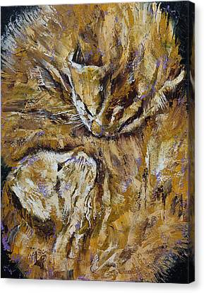 Sleeping Kittens Canvas Print by Michael Creese