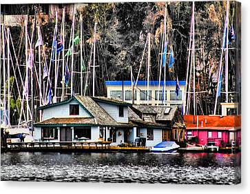 Sleepless In Seattle House Canvas Print by David Patterson