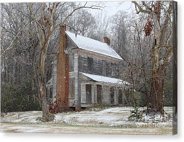 Sleepy Hollow Harrison Blount House Canvas Print by Benanne Stiens