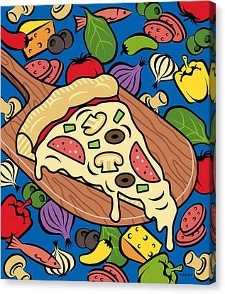 Slice Of Pie Canvas Print by Ron Magnes