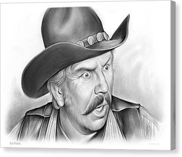 Slim Pickens Canvas Print by Greg Joens