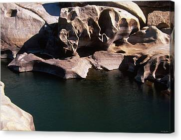 Slippery Rock Raft Launch - Kern River Canvas Print by Soli Deo Gloria Wilderness And Wildlife Photography