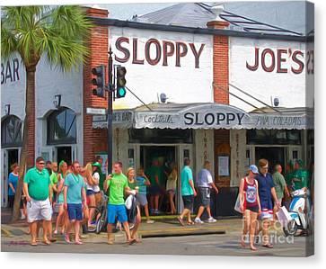 Sloppy Joe's Canvas Print by Judy Kay