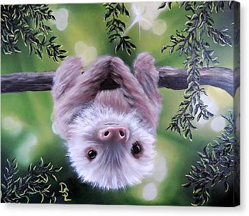 Sloth'n 'around Canvas Print by Dianna Lewis