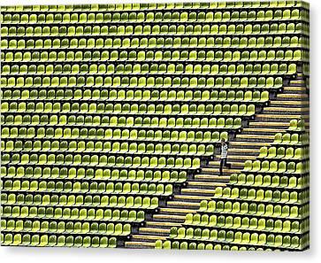 Small Boy - Plenty Stadium Canvas Print by Herbert A. Franke