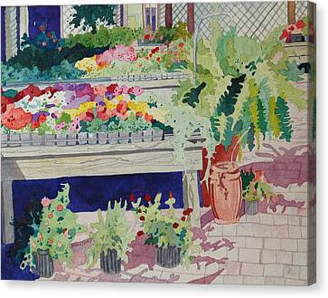 Small Garden Scene Canvas Print by Terry Holliday
