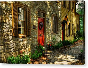 Small Town Usa Canvas Print by Lois Bryan