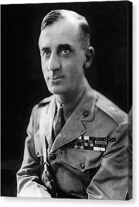 Smedley Butler - U. S. Marines General - 2 Time Medal Of Honor Recipient Canvas Print by Daniel Hagerman