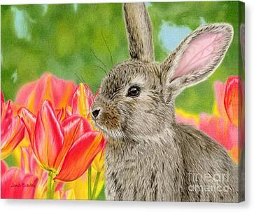 Smell The Flowers Canvas Print by Sarah Batalka