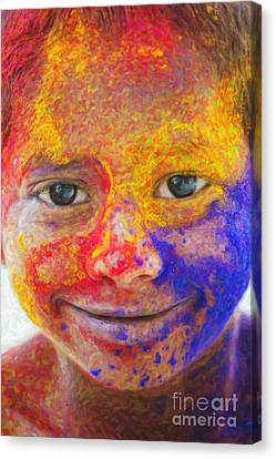 Smile Your Amazing Canvas Print by Tim Gainey