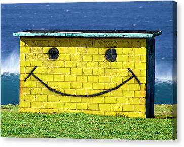 Smiley Shed Canvas Print by Sean Davey