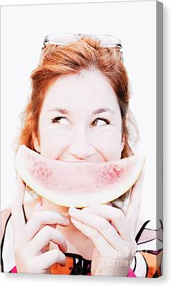 Smiling Summer Snack Canvas Print by Jorgo Photography - Wall Art Gallery