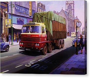 Smith's Scammell Routeman II Canvas Print by Mike  Jeffries