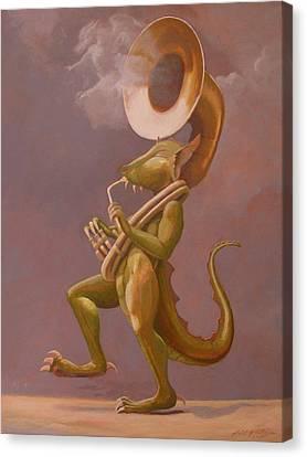 Smoke And Dragons Canvas Print by Leonard Filgate