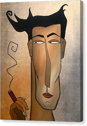 Smoke Break Canvas Print by Tom Fedro - Fidostudio