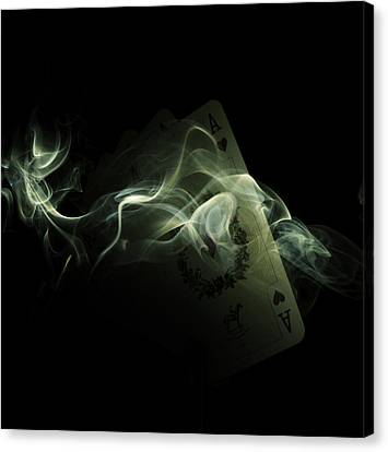 Smoke Canvas Print by Ivan Vukelic