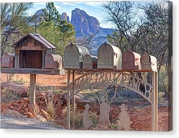 Smoke Trail Ranch Canvas Print by Donna Kennedy