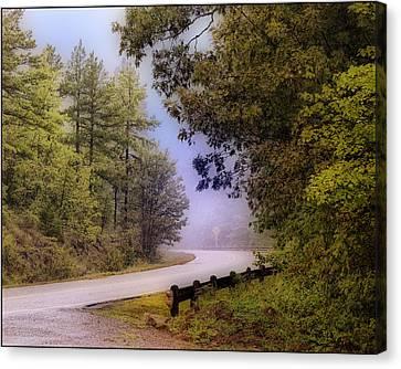 Smokey Mountain Road Canvas Print by Shirley Dawson
