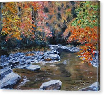 Smokey Mountains Autumn Canvas Print by Stanton D Allaben