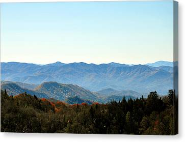 Smokey Mountains Canvas Print by Brittany H