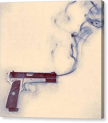 Smoking Gun Canvas Print by Scott Norris