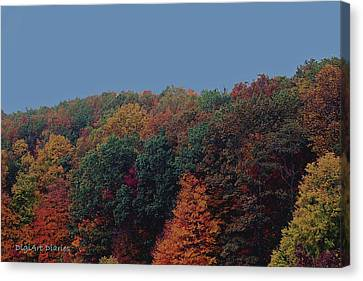 Smoky Mountains In Autumn Canvas Print by DigiArt Diaries by Vicky B Fuller