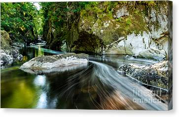 Smooth Flow Canvas Print by Adrian Evans