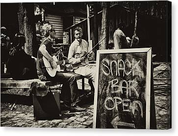 Snack Bar Open Canvas Print by Bill Cannon