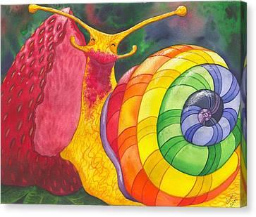 Snail Nirvana Canvas Print by Catherine G McElroy