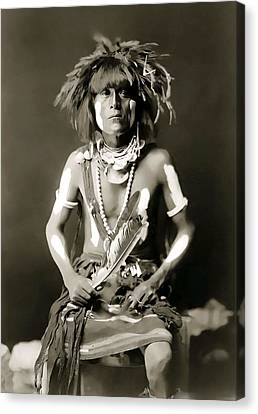 Snake Priest  - Hopi Tribe C. 1900 Canvas Print by Daniel Hagerman