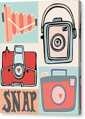 Snap - Vintage Cameras Canvas Print by Colleen VT