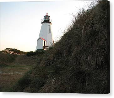Sneaking Up On A Lighthouse Canvas Print by Brian Mazzoli