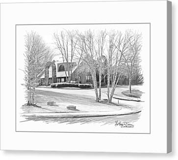 Snellville Police Station Canvas Print by Anthony R Socci