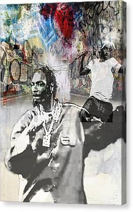 Snoop Graffitti  36 Canvas Print by Jani Heinonen