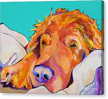 Snoozer King Canvas Print by Pat Saunders-White