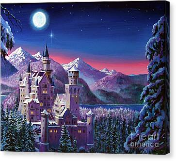 Snow Castle Canvas Print by David Lloyd Glover