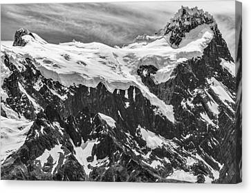 Snow Covered Mountains - Patagonia Photograph Canvas Print by Duane Miller