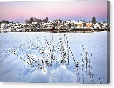 Snow Covered South End Canvas Print by Eric Gendron