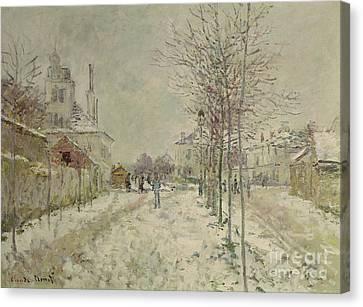 Snow Effect Canvas Print by Claude Monet