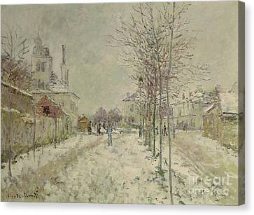 Snow Effect Canvas Print by Claude Monet