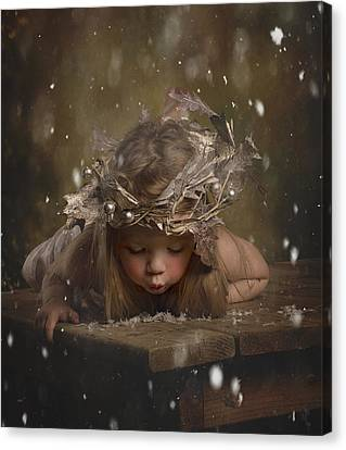 Snow Fairy 2 Canvas Print by Lori Lynn