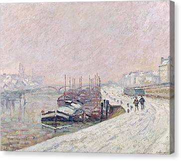 Snow In Rouen Canvas Print by Jean Baptiste Armand Guillaumin