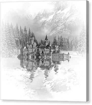 Snow Palace Canvas Print by Sharon Lisa Clarke
