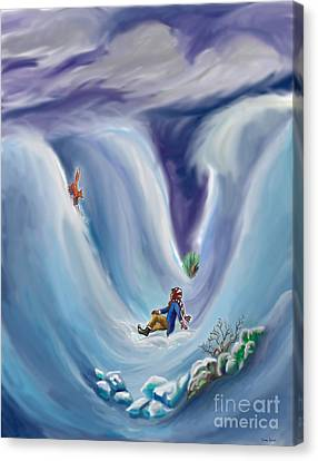 Snow Tang - Story Illustration 6 - Age 12 Canvas Print by Dawn Senior-Trask