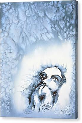 Snow Canvas Print by Zaira Dzhaubaeva