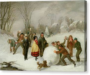 Snowballing   Canvas Print by Cornelis Kimmel