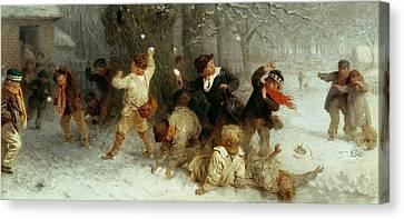 Snowballing Canvas Print by John Morgan