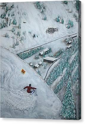 Snowbird Steeps Canvas Print by Michael Cuozzo